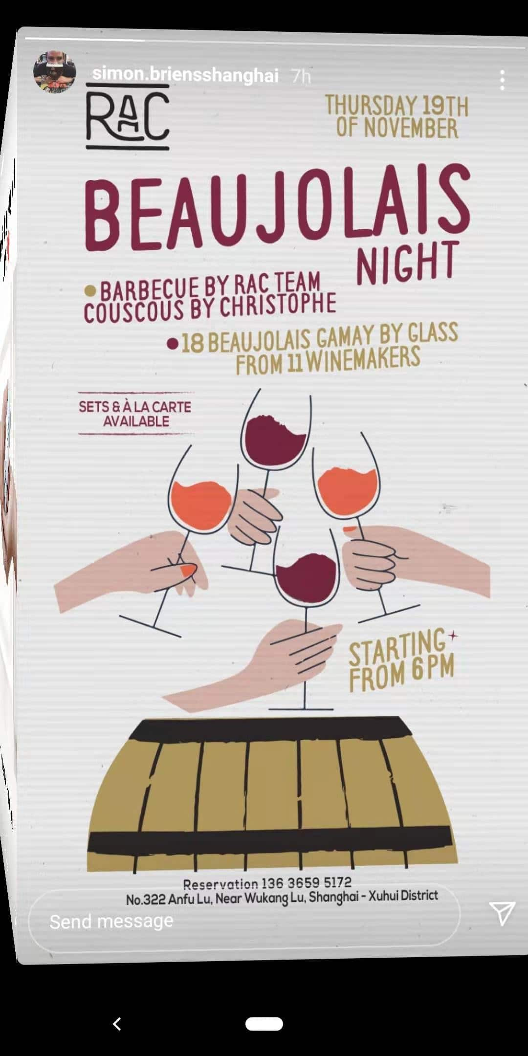 Beaujolais Night at RAC