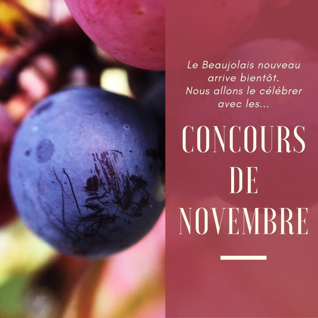 Concours Instagram pour les Beaujolais Nouveaux