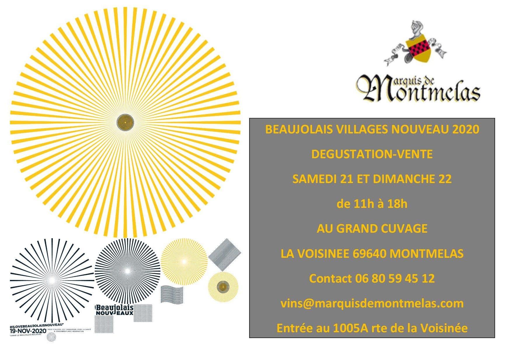 Beaujolais Villages Nouveau 2020… à découvrir absolument au Château de Montmelas