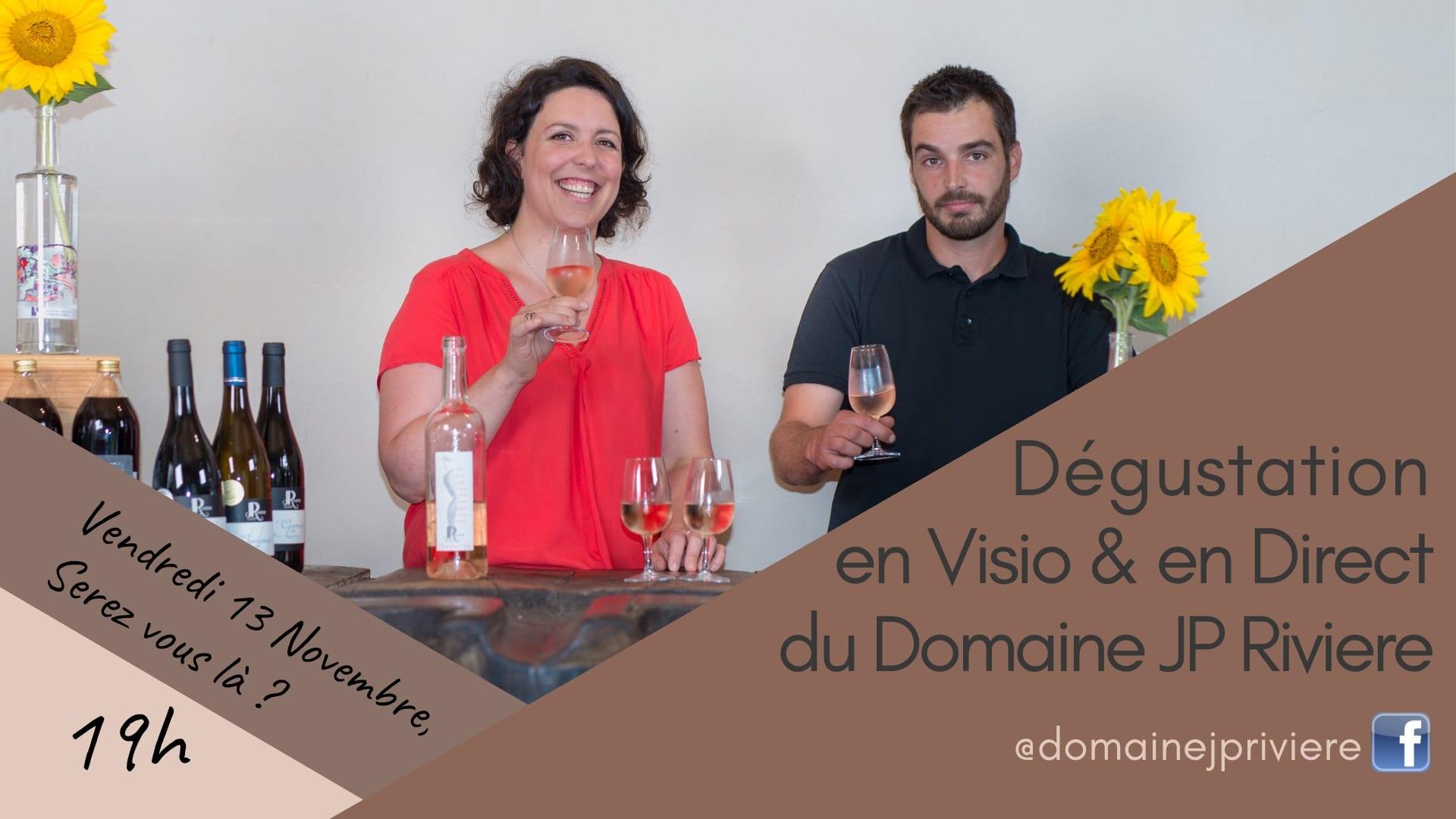 Dégustation en visio avec le Domaine Jean-Pierre Rivière