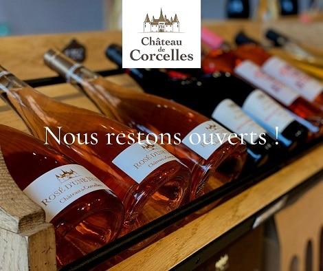 La boutique du Château de Corcelles reste ouverte